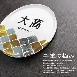 おしゃれ表札chitoseの風水扇デザイン例
