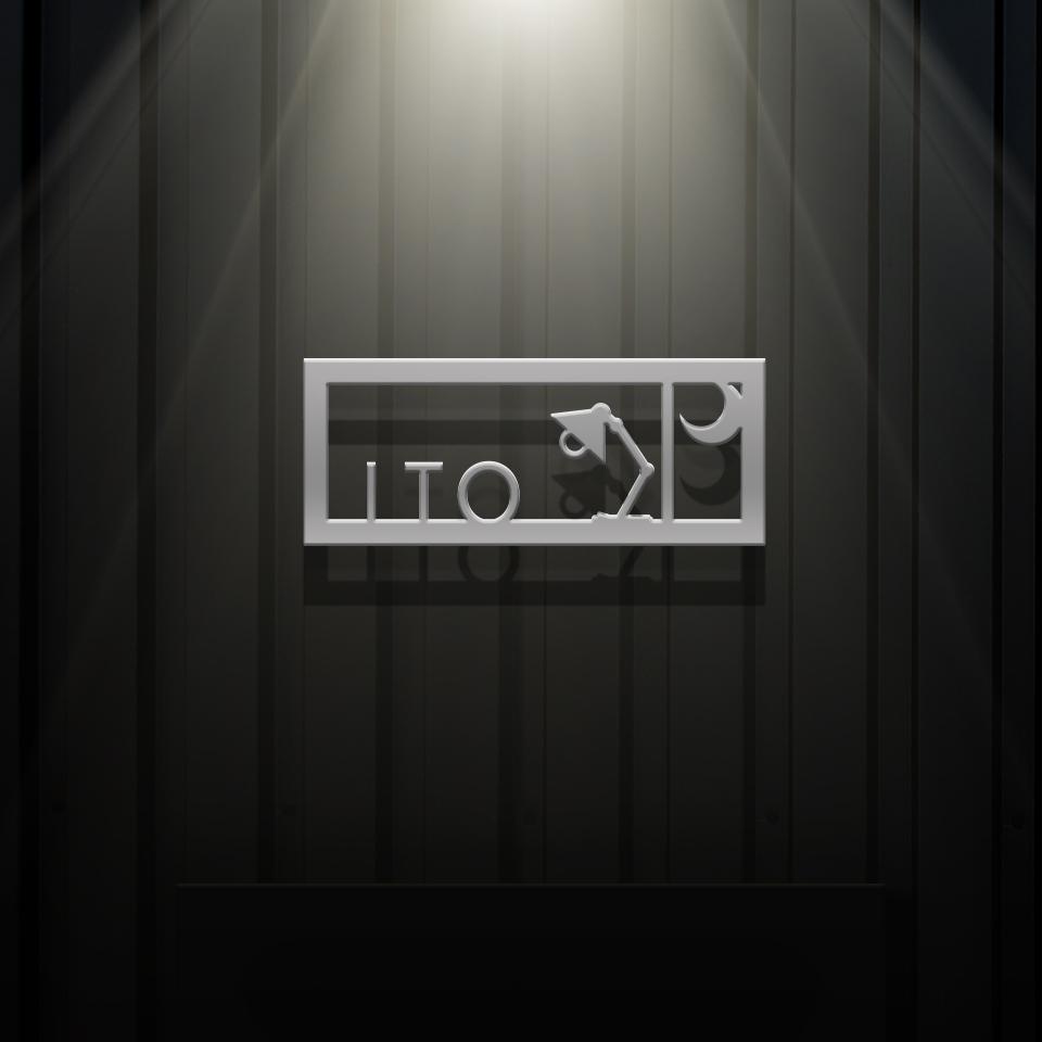 夜の家をイメージした黒い壁やライトに映えるシンプルなアイアン・ステンレス表札を黒い壁にセットしたデザイン例