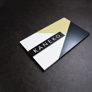 シックで品のあるデザインのアクリル表札を黒い壁にセットした商品画像